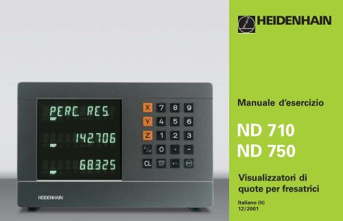 ND 710 ND 750 - heidenhain