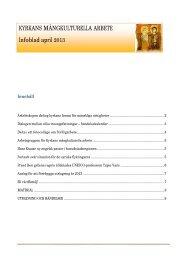 KYRKANS MÅNGKULTURELLA ARBETE Infoblad april 2013 - Sakasti
