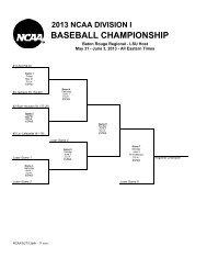 2013 NCAA DI Baseball Regional Brackets