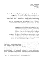 Free Radical Scavenging Activity of Hydroxyflavone Sodium Salts ...