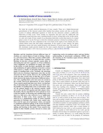 An elementary model of torus canards - Mathematics & Statistics ...