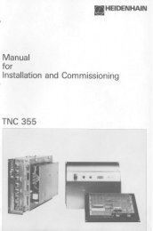 TNC 355 Manual for Installation and Commissioning - heidenhain