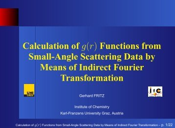 Calculation of g(r) Functions from Small-Angle Scattering Data by ...