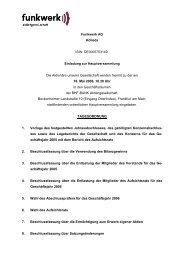 Einladung - Kurzfassung - Funkwerk AG