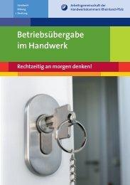 Betriebsübergabe im Handwerk - Handwerkskammer Trier