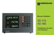 Manuel d'utilisation ND 710, ND 750 (SW AA00) - heidenhain