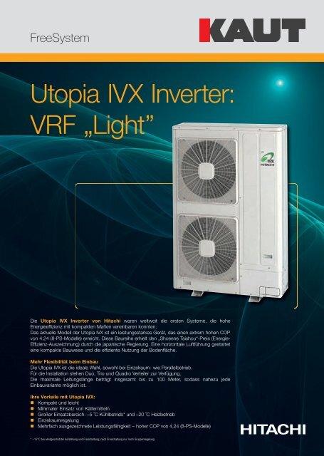 "Utopia IVX : VRF ""Light"" - Alfred Kaut GmbH + Co."