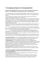 7. Kunskapssociologin och kvinnoperspektivet