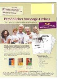 Persönlicher Vorsorge-Ordner - Notenarchive