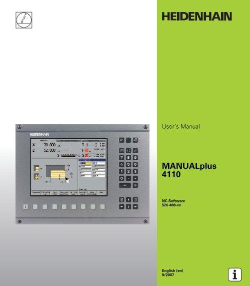 Heidenhain datapilot 4110 download full.