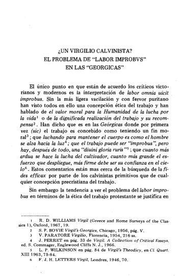 ¿UN VIRGILIO CALVINISTA? EL PROBLEMA DE ... - InterClassica