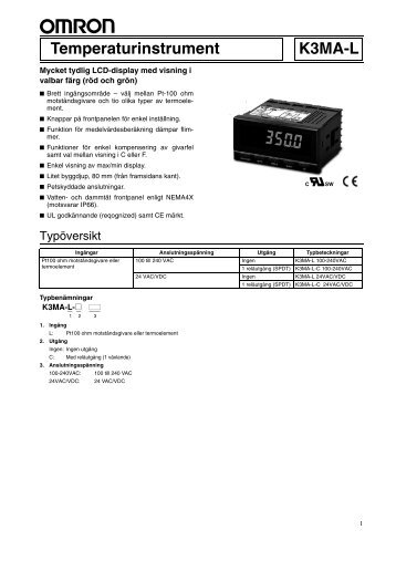 K3MA-L Datablad