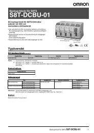 S8T-DCBU-01 Datablad - Omron Europe