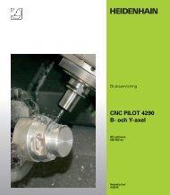 CNC PILOT 4290 B- och Y-axel - heidenhain - DR. JOHANNES ...