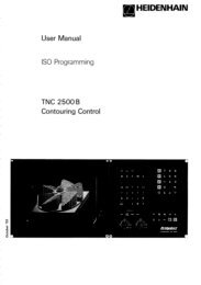 User Manual ISO Programming 2500 B - heidenhain