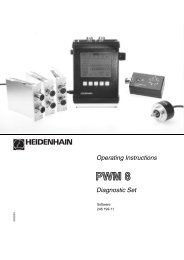 PWM8 Operating Instructions - heidenhain