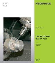 CNC PILOT 4290 B and Y Axis - heidenhain - DR. JOHANNES ...