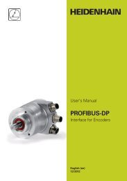 PROFIBUS-DP User Manual for Encoder - heidenhain - DR ...