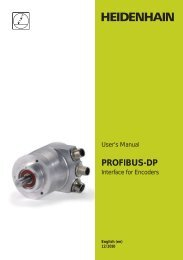 User's Manual PROFIBUS-DP - heidenhain - DR. JOHANNES ...