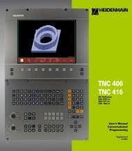User's Manual TNC 406, TNC 416 - heidenhain