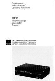 MZ 101 DR. JOHANNES HEIDENHAIN