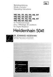 21008601 - heidenhain - DR. JOHANNES HEIDENHAIN GmbH