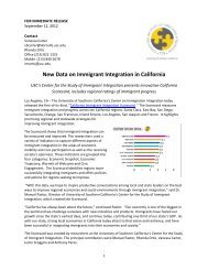 New Data on Immigrant Integration in California - Center for the ...