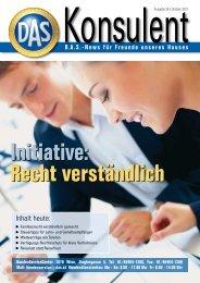 Konsulent Ausgabe 25 - D.A.S. Österreichische Allgemeine ...