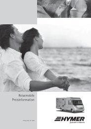Reisemobile Preisinformation - HYMER.com