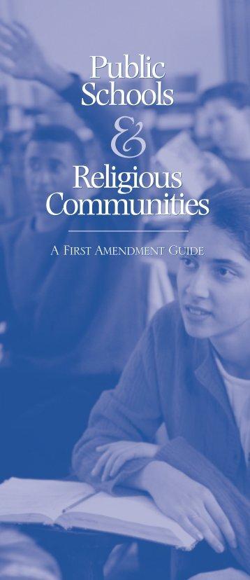 Public Schools Religious Communities - First Amendment Center