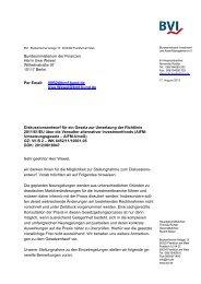 Diskussionsentwurf für ein Gesetz zur Umsetzung der ... - BVI