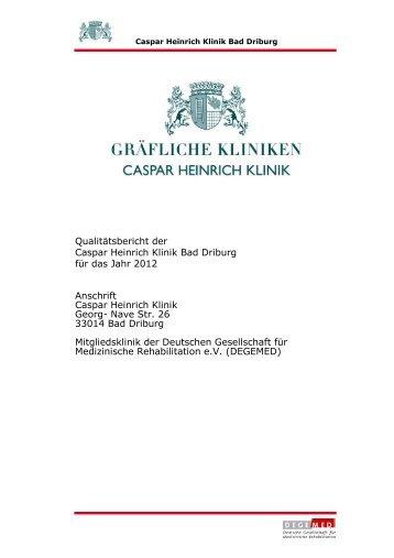 Zertifikat - Caspar Heinrich Klinik