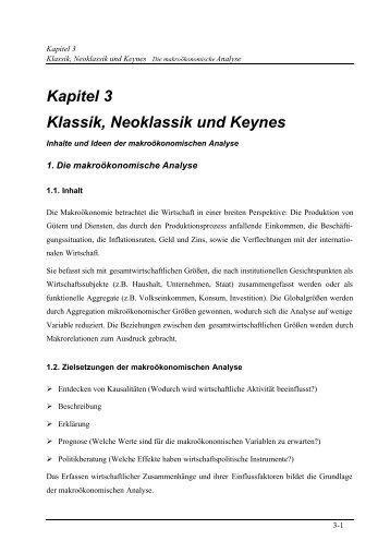 Kapitel 3 Klassik, Neoklassik und Keynes - Stefan.Schleicher(a)wifo.at