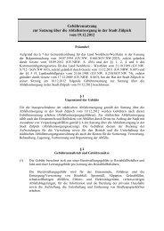 Gebührensatzung zur Abfallentsorgung - Stadt Zülpich