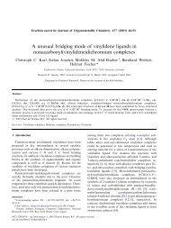 A unusual bridging mode of vinylidene ligands in ... - KOPS