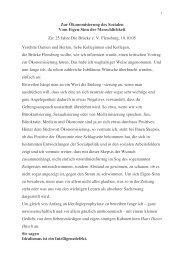 Zur Ökonomisierung des Sozialen Vom Eigen ... - Kulturserver NRW
