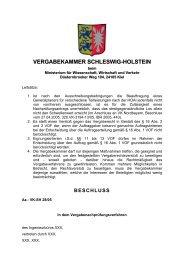 VERGABEKAMMER SCHLESWIG-HOLSTEIN