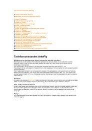 Tariefsvoorwaarden ArkeFly - TUI Nederland
