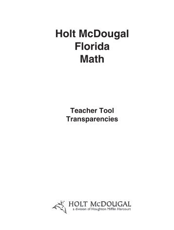Table of contents generic holt mcdougal florida math mathnmind fandeluxe Image collections