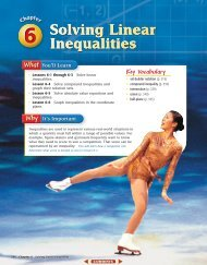 Chapter 6: Solving Linear Inequalities - MathnMind