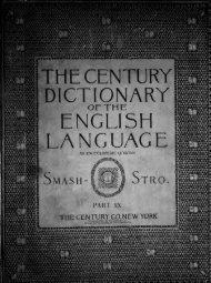 The Century dictionary : an encyclopedic lexicon of the English ...