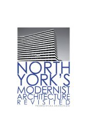 North York's Modernist Architecture Revisited - ERA Architects Inc.
