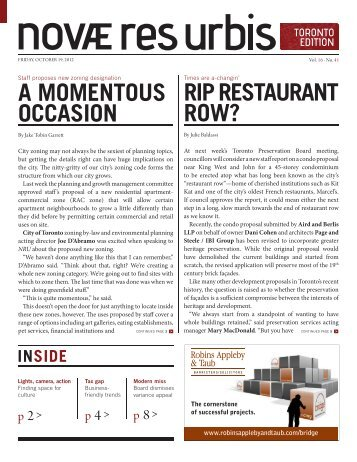 Tower Neighbourhood Renewal – NRU - ERA Architects Inc.