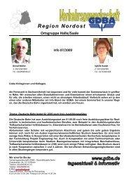 Info 07/2009 - Eisenbahn und Verkehrsgewerkschaft