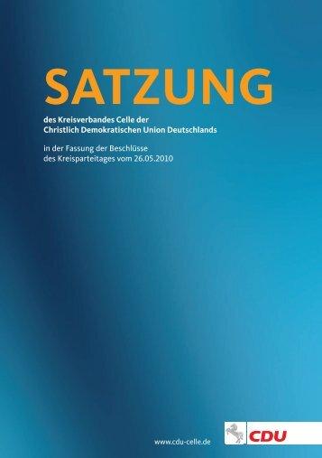 Satzung - CDU Kreisverband Celle