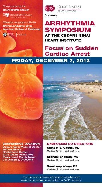 Arrhythmia Symposium 2012 Brochure - Cedars-Sinai