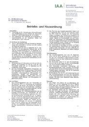 Betriebs- und Hausordnung - Archiv - IAA