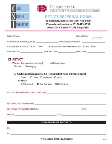 Image-guIded outpatIent procedure referral form - Cedars-Sinai on