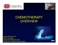CHEMOTHERAPY OVERVIEW - Cedars-Sinai