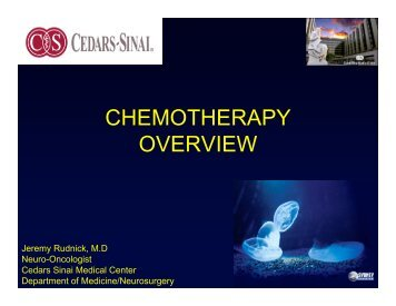 CHEMOTHERAPY OVERVIEW - Cedars-Sinai